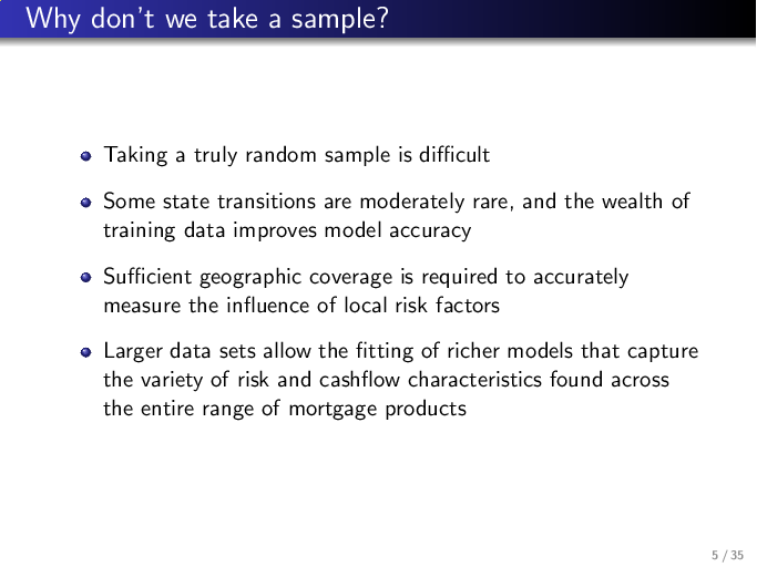 why use deep learning to model mortgage risk?